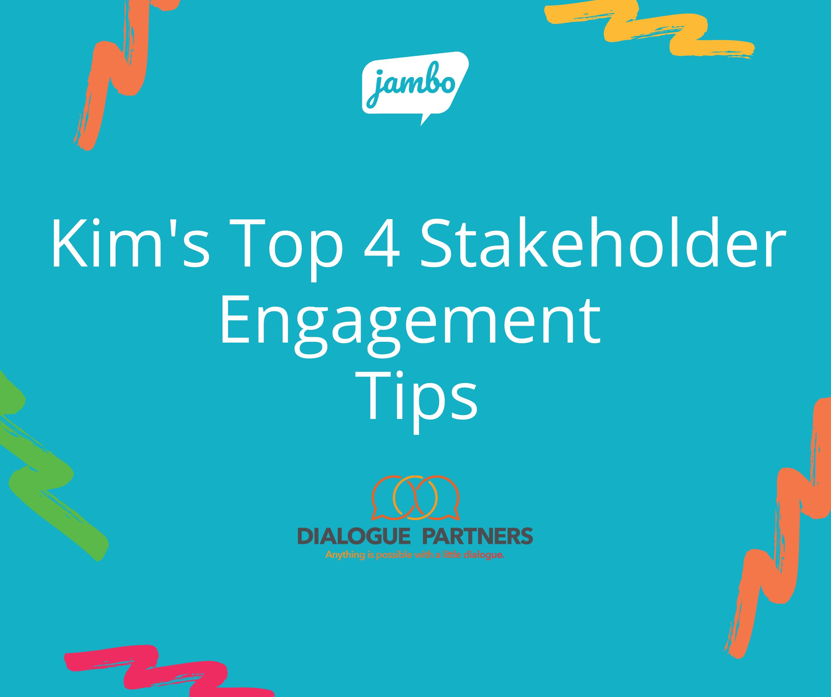 Kims Stakeholder Engagement Tip Sheet