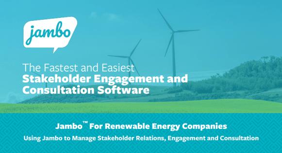 Jambo for renewable energy companies