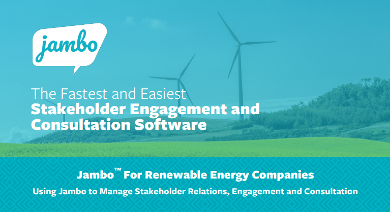Jambo for renewable energy companies