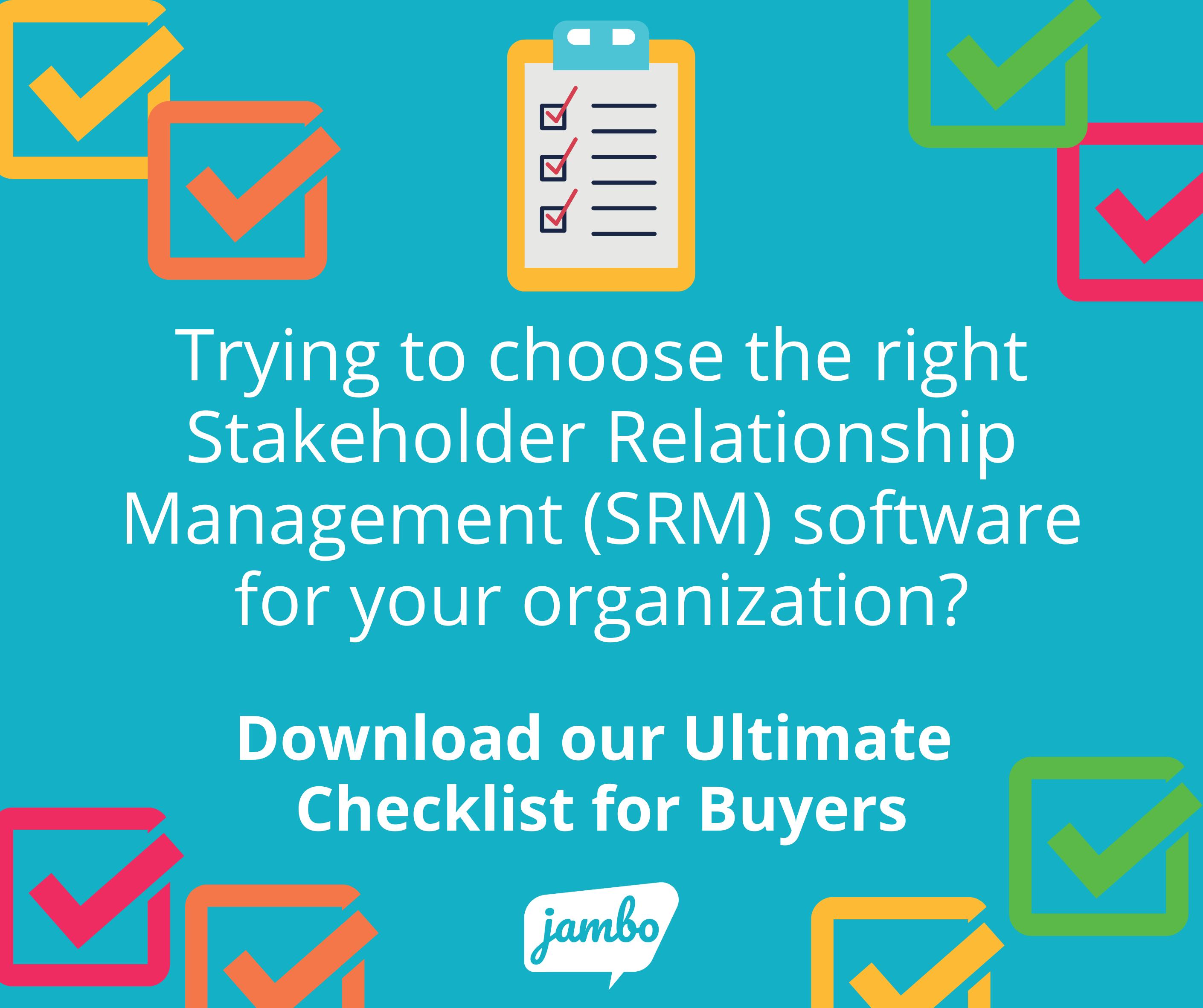 SRM Checklist